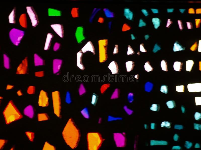 Omhoog Dicht gebrandschilderd glas stock foto's