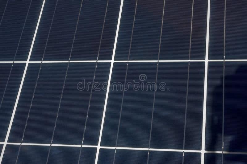 Omhoog Dicht zonnepaneel stock fotografie