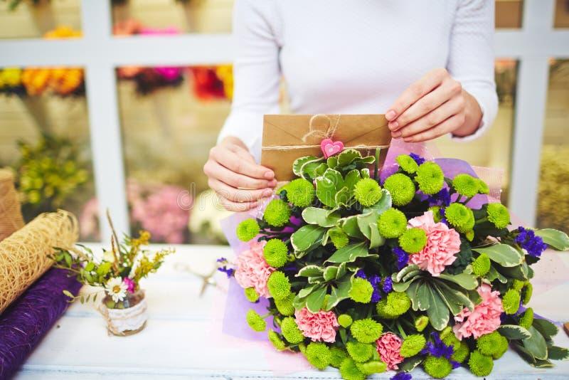 Omhoog het beëindigen van bloemenboeket stock foto's