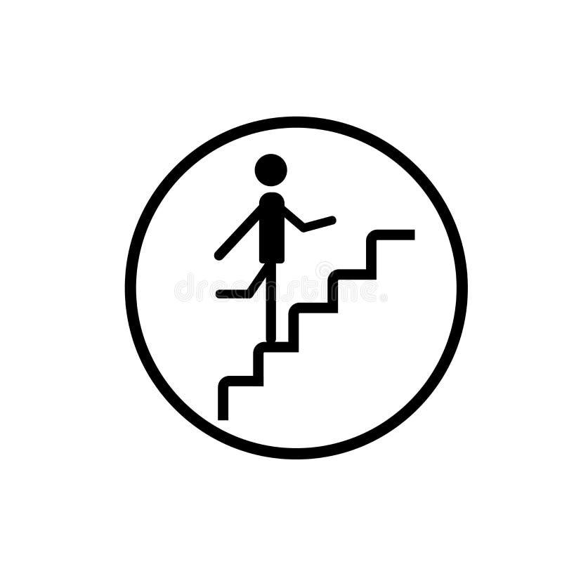 Omhoog lopend het pictogramvector van het Tredeteken op witte achtergrond wordt geïsoleerd, die omhoog het teken dat van het Tred vector illustratie