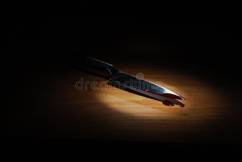 Omicidio nello scuro fotografie stock