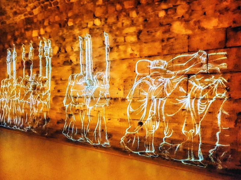 Αίθουσες ιπποτών σταυροφόρων Akko στοκ φωτογραφία με δικαίωμα ελεύθερης χρήσης