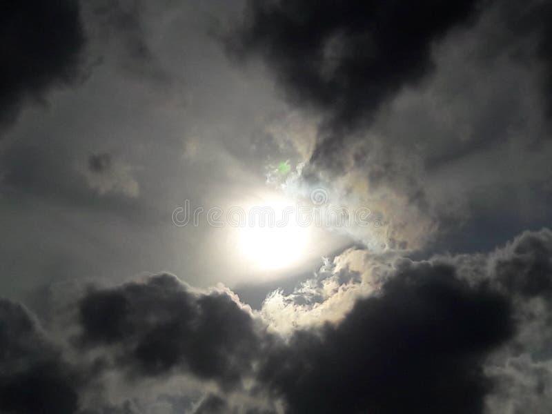 Ominöse Wolken stockfoto