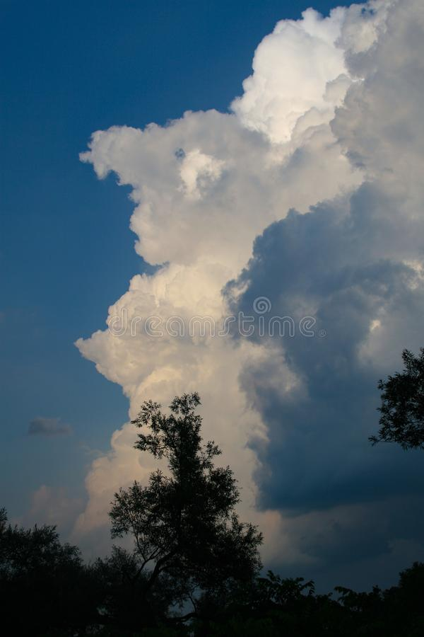Ominous Clouds over the Finger Lakes. A storm is coming. Ominous clouds invade a clear day in the Finger Lakes region of Central New York stock images