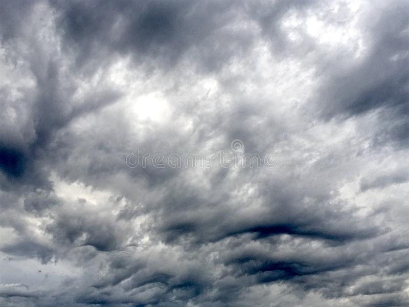 Ominous Clouds. Image of a ominous looking clouds during a storm over Atlanta, Georgia royalty free stock photography