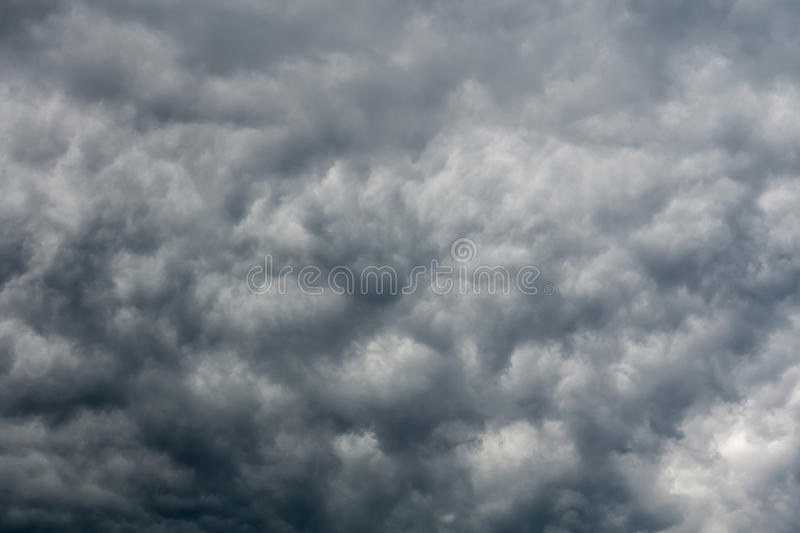 Ominous Grey Storm Clouds stock photo
