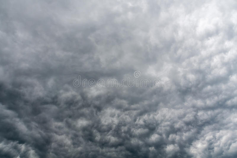 Ominous Grey Storm Clouds royalty free stock photo
