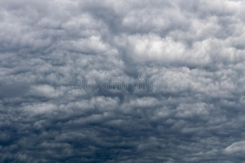 Ominous Grey Storm Clouds stock photography