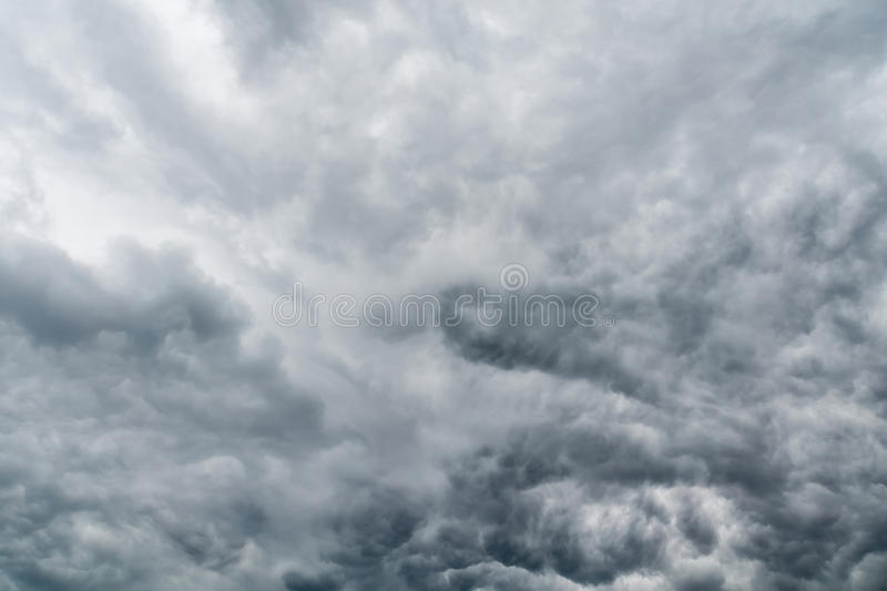 Ominous Grey Storm Clouds royalty free stock image