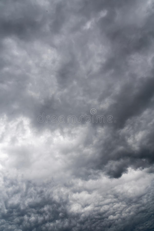 Ominous Grey Storm Clouds royalty free stock photos