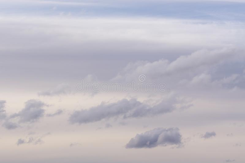 Ominous storm clouds dusk grey heaven horizontal, royalty free stock photography