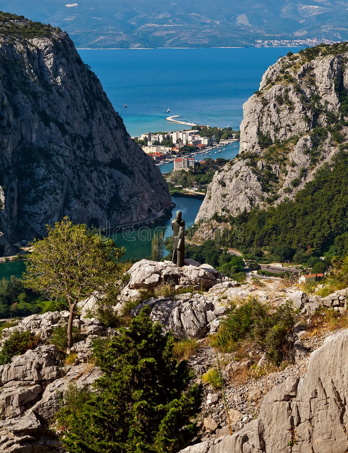 Omis, Croatia stock photo
