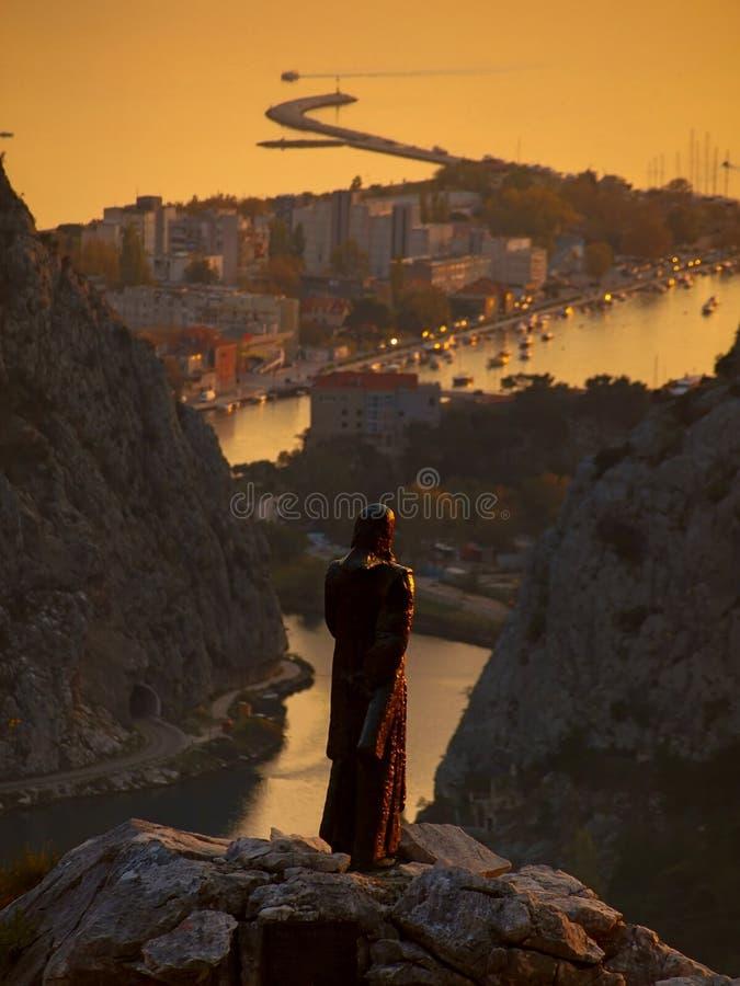Omis-Croatia-Dalmatia stock image