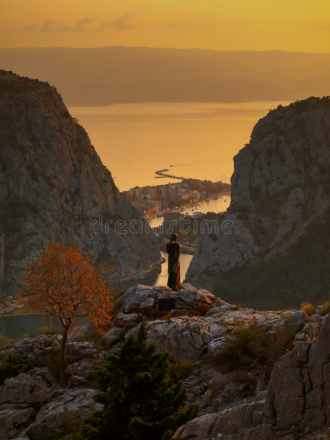 Omis-Croatia-Dalmatia 1 royalty free stock image