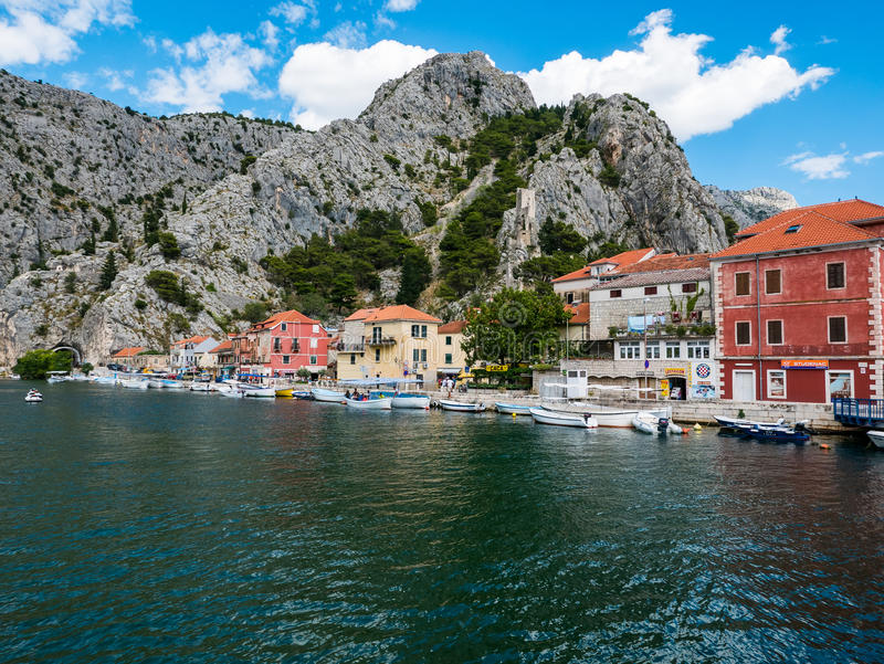 Omis, Croatia stock images