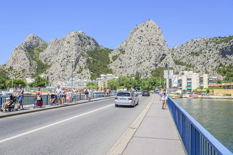 Town Omis in Croatia. stock image