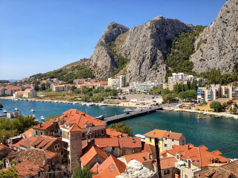 Omis, Kroatië royalty-vrije stock foto's