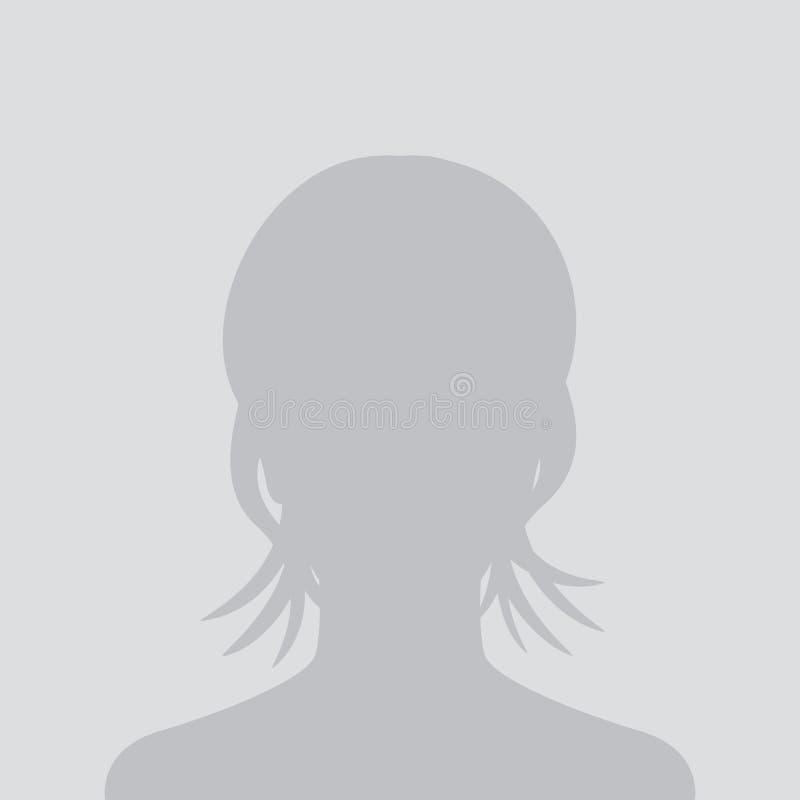 Omita al avatar, placeholder de la foto, icono del perfil stock de ilustración