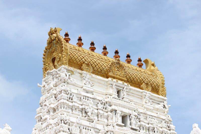 Omkar Temple Tower, Gopuram lizenzfreie stockfotos