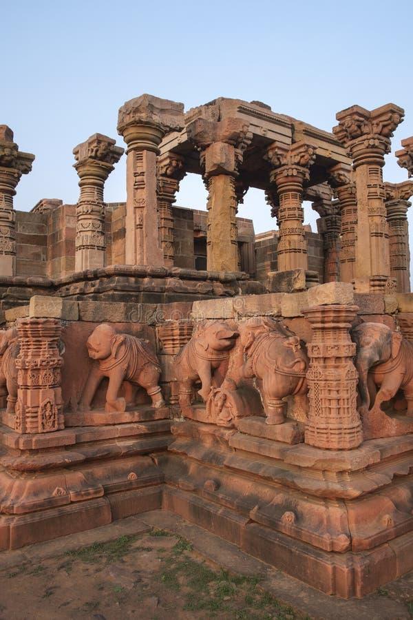 Omkareshwar sacred island. Siddhnath Baradwari Siddheshwar Temple, an ancient monument, Omkareshwar, Madhya Pradesh, India stock photo