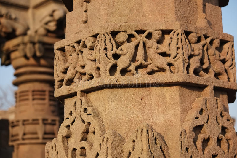Omkareshwar sacred island. Siddhnath Baradwari Siddheshwar Temple, an ancient monument, Omkareshwar, Madhya Pradesh, India royalty free stock image