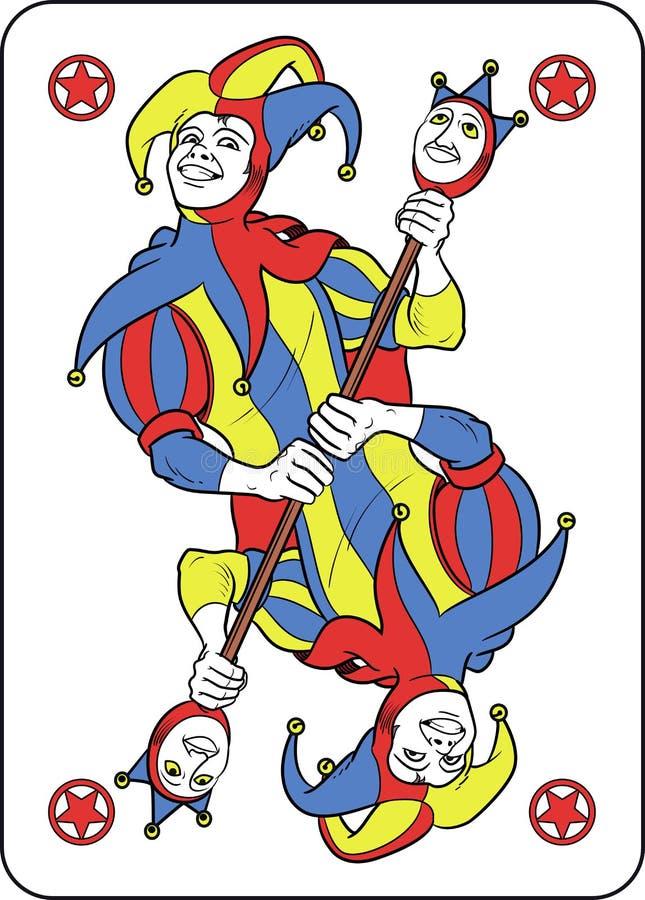 Omkeerbare joker royalty-vrije illustratie