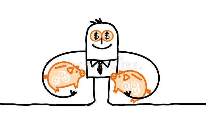 Omkoopbare mens royalty-vrije illustratie