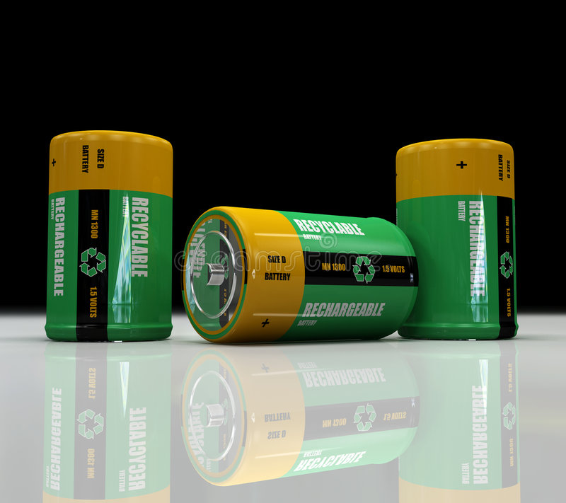 omladdningsbart batteri arkivbild