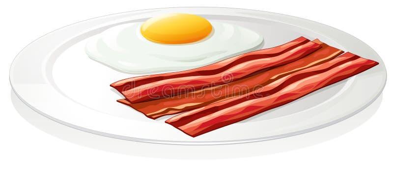 Omlet яичка в тарелке бесплатная иллюстрация