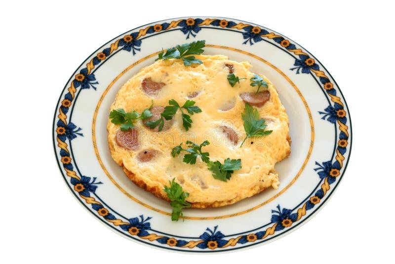 omlet kiełbasy obrazy stock