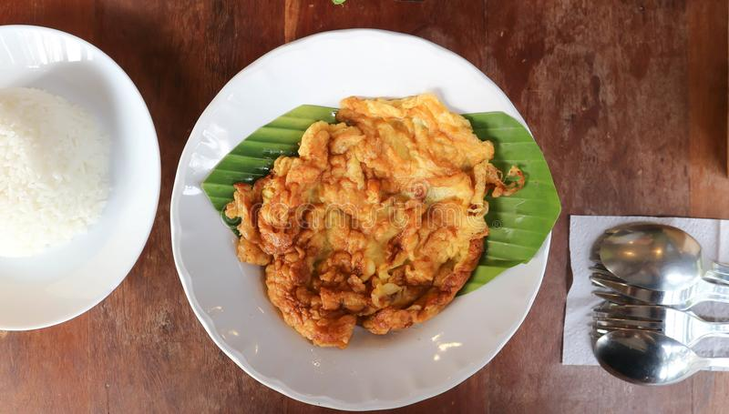 Omlet, omelette lub ryż fotografia royalty free