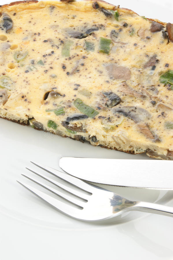 omlet pieczarkowa cebula zdjęcie stock