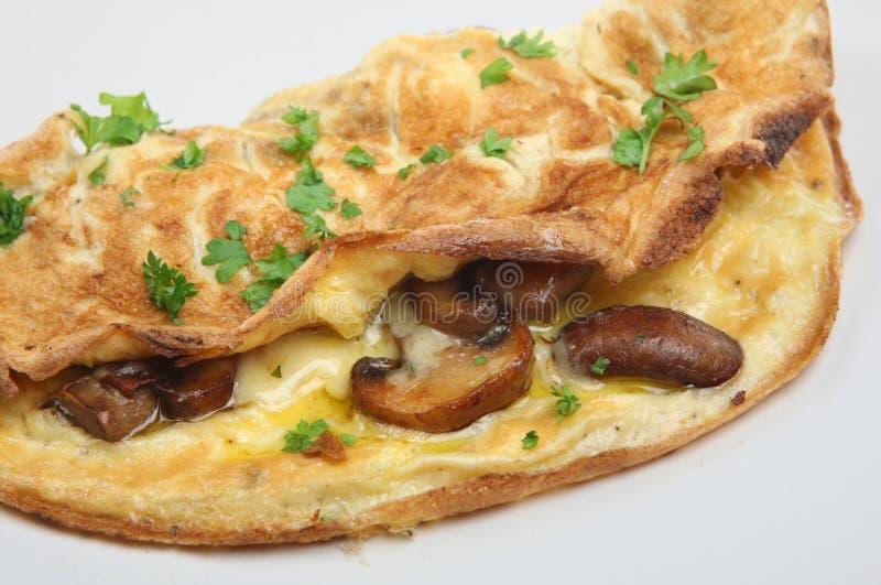 omlet pieczarkowy zdjęcie stock