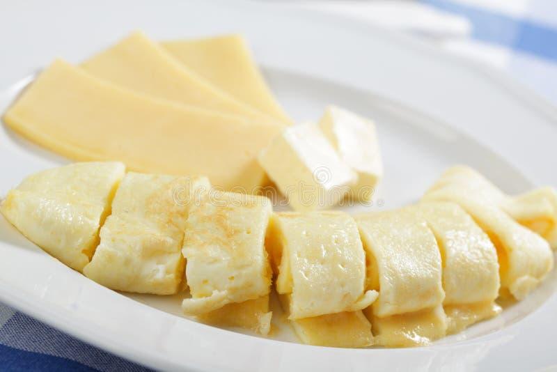 omlet rolka zdjęcia stock