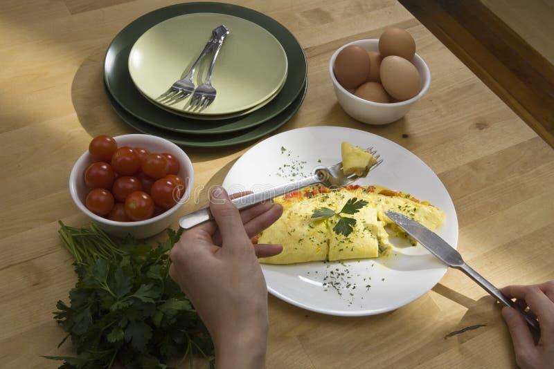 omlet rozebranego zdjęcie stock