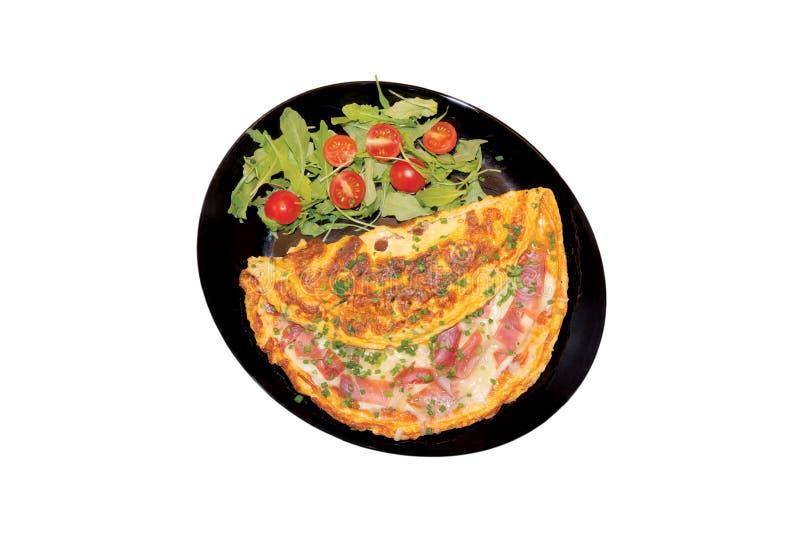 Omlet z baleronem obrazy stock