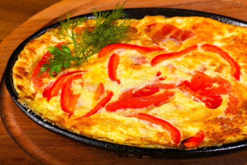 Omlet z bekonem fotografia stock