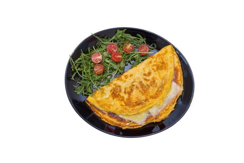 Omlet z czereśniowym pomidorem zdjęcie royalty free