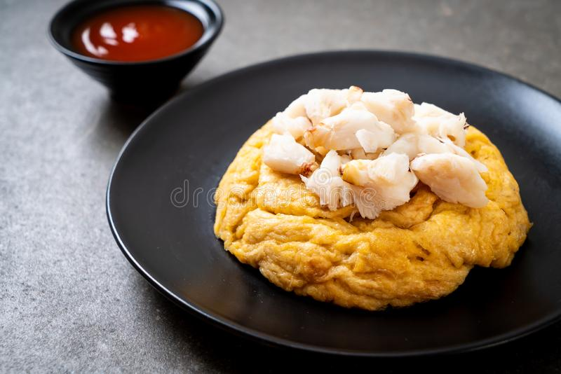 Omlet z kraba mięsem zdjęcie royalty free