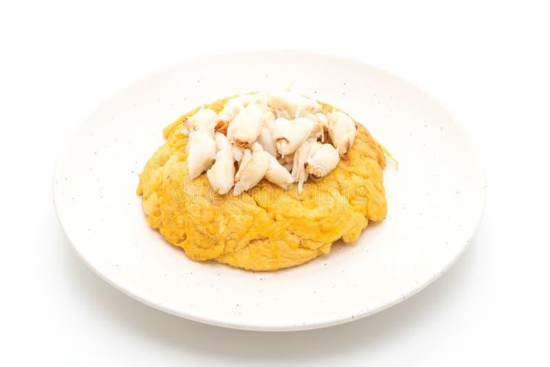 Omlet z kraba mięsem fotografia royalty free