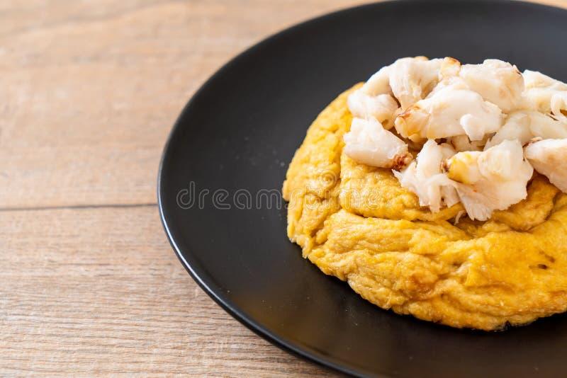 Omlet z kraba mi?sem zdjęcia royalty free