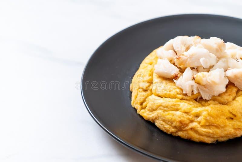 Omlet z kraba mi?sem fotografia stock