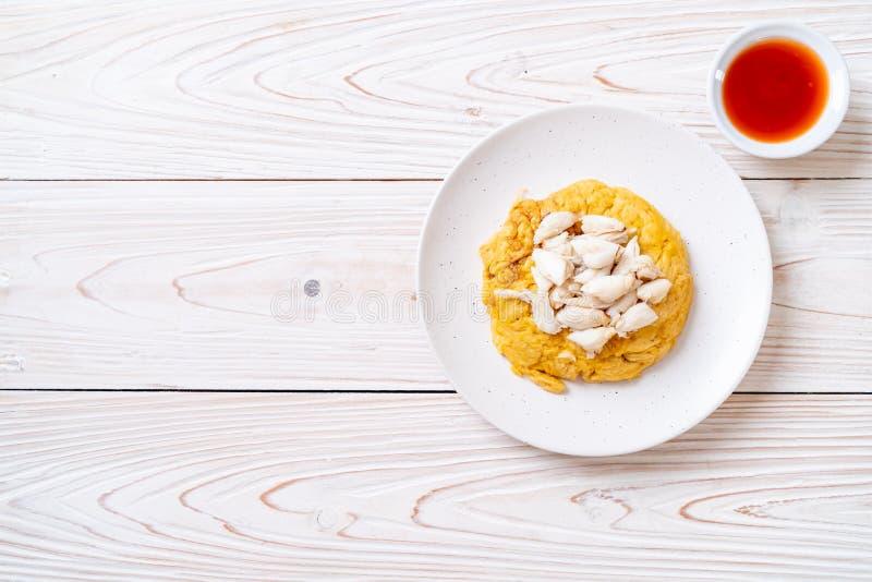 Omlet z kraba mi?sem zdjęcie royalty free