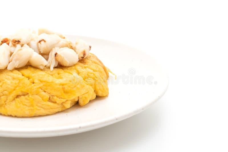 Omlet z kraba mi?sem zdjęcia stock