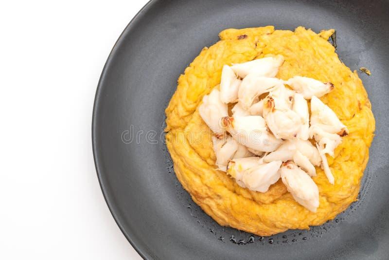 Omlet z kraba mi?sem zdjęcie stock