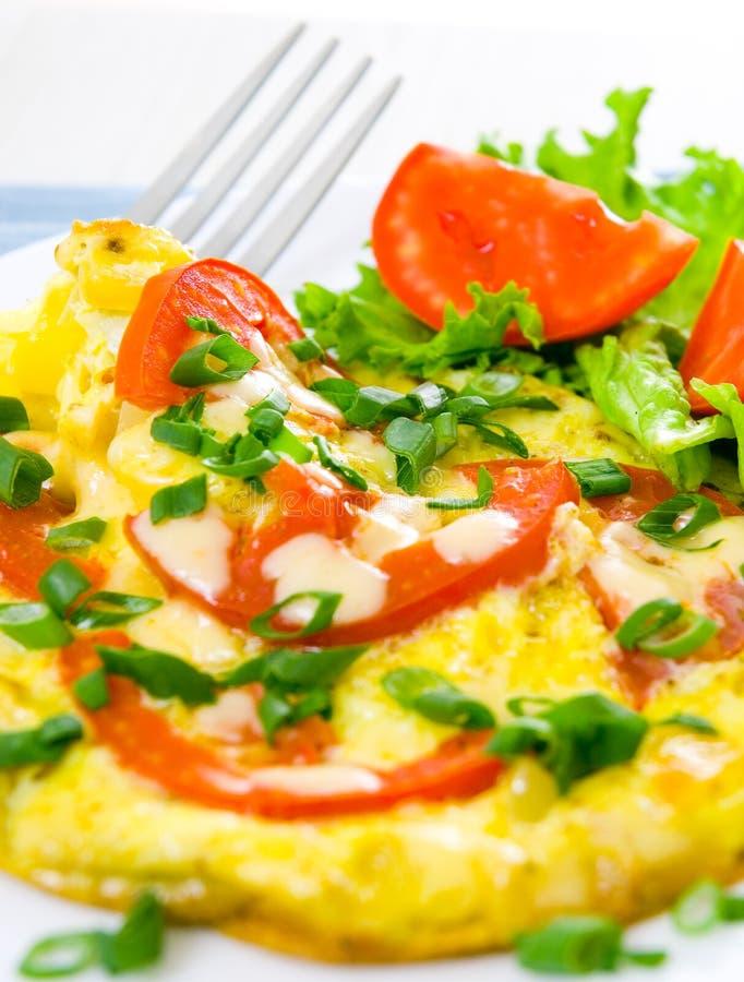 Omlet z pomidorami obraz royalty free