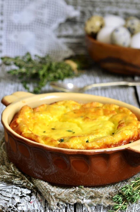 Omlet z ricotta i macierzanką zdjęcie stock