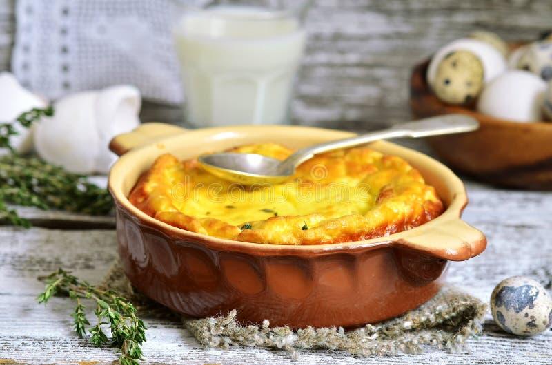 Omlet z ricotta i macierzanką obrazy stock