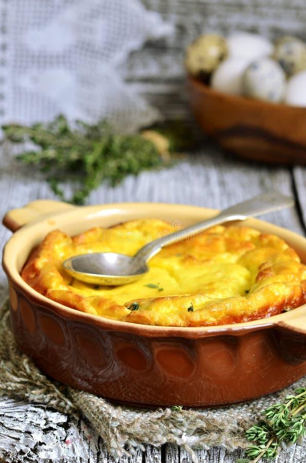 Omlet z ricotta i macierzanką obraz stock