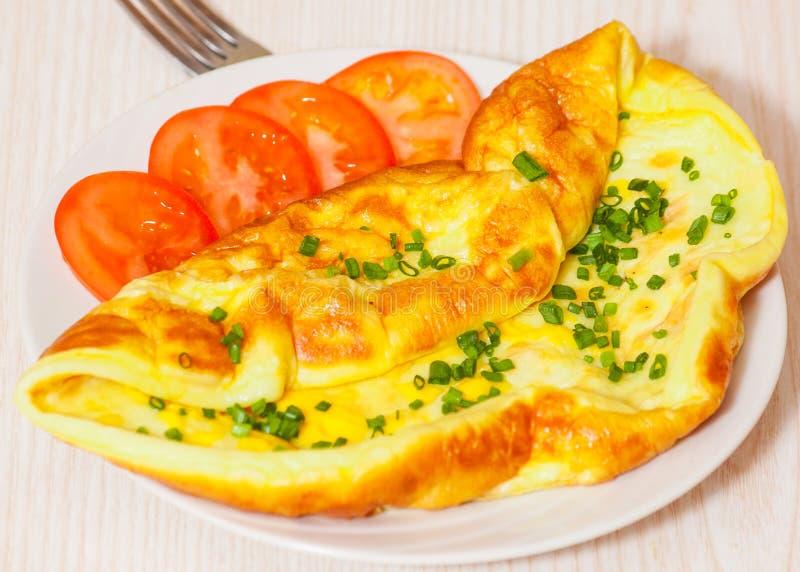 Omlet z serem obraz royalty free